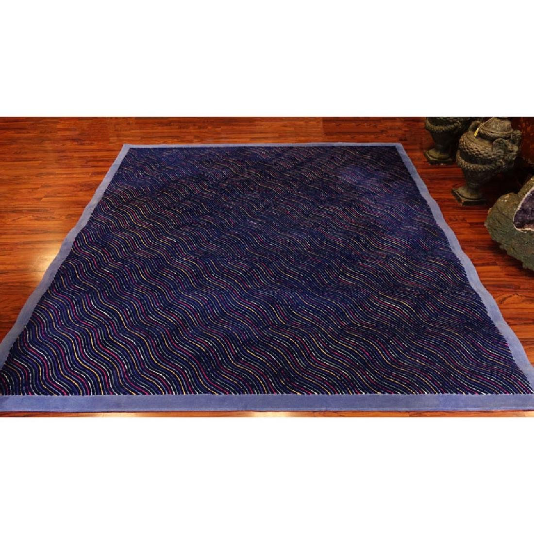 Room Size Edward Fields Colorful Stripes Wool Rug.