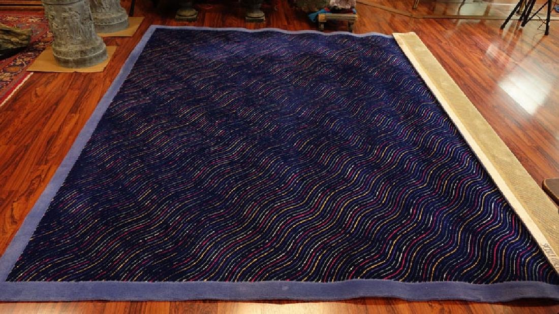 Room Size Edward Fields Colorful Stripes Wool Rug. - 2