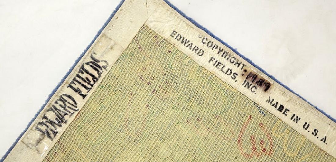 Edward Fields Colorful Floral Wool Rug. Signed en verso - 6