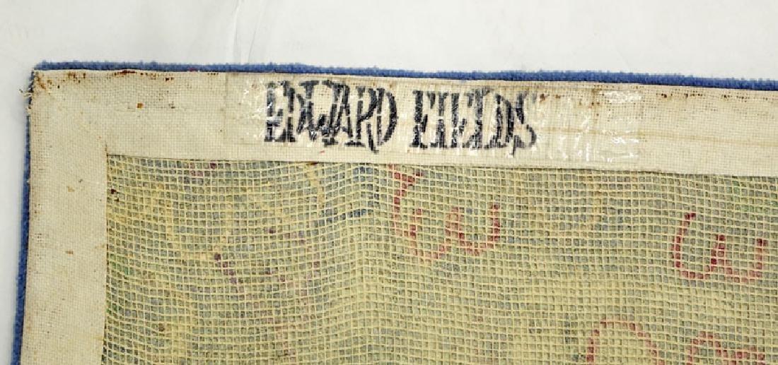 Edward Fields Colorful Floral Wool Rug. Signed en verso - 7