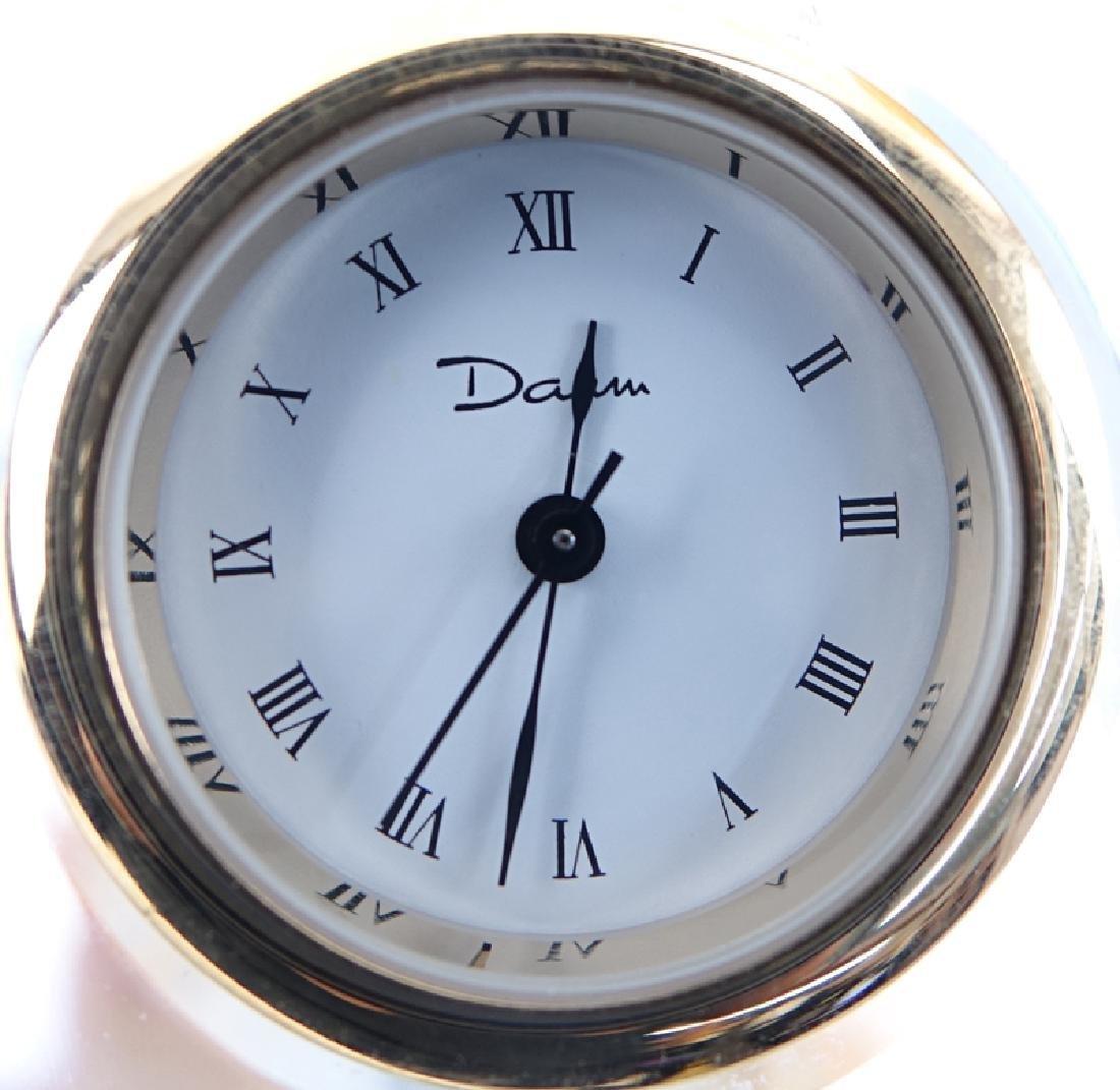 Daum France Pate de Verre Butterfly on Clear Egg Clock. - 4