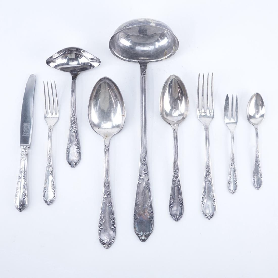 Eighty-Four (84) Piece Victorian German Silver Plate