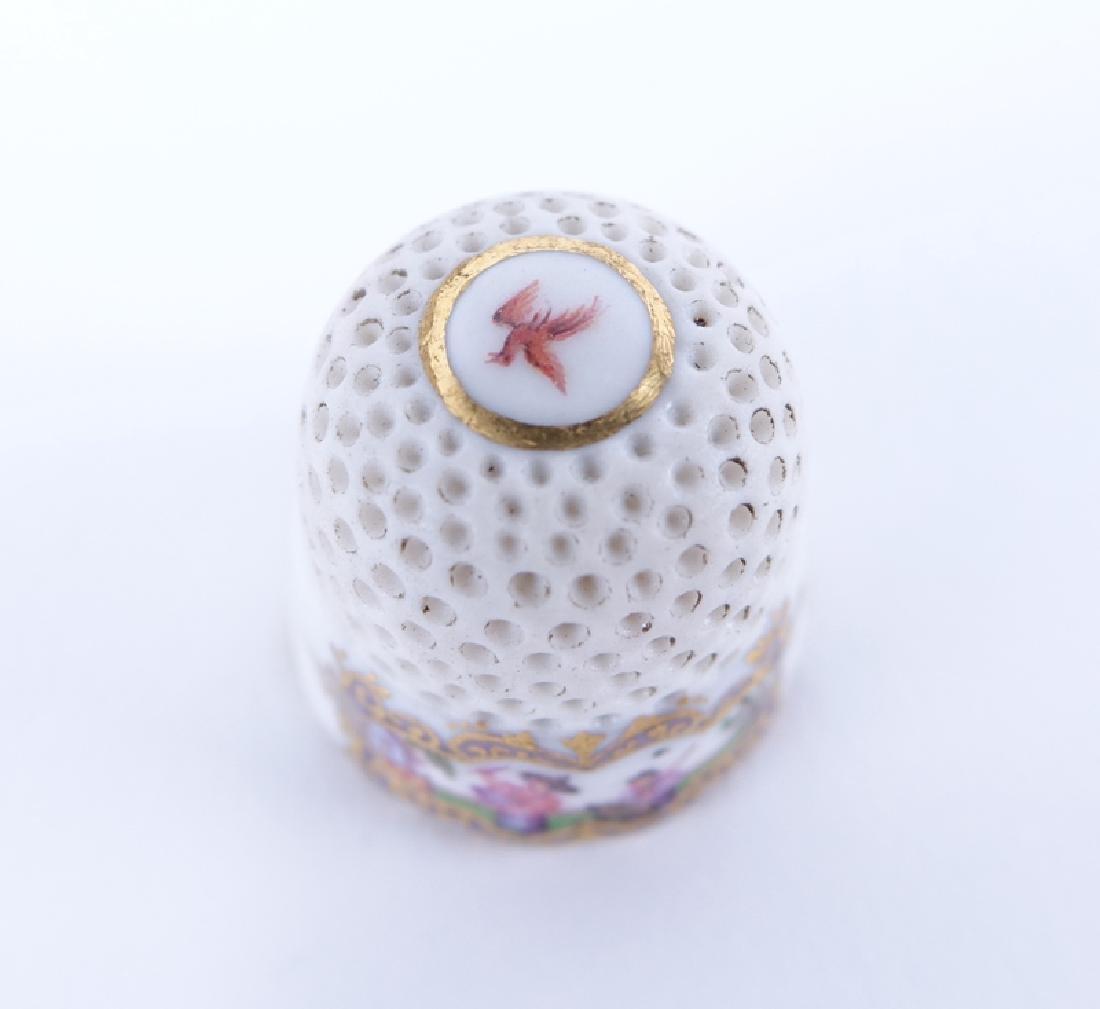Mid 18th Century Meissen Porcelain Thimble. The upper - 2