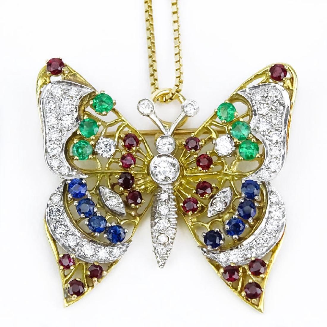 Vintage Diamond, Multi Gemstone and 18 Karat Yellow