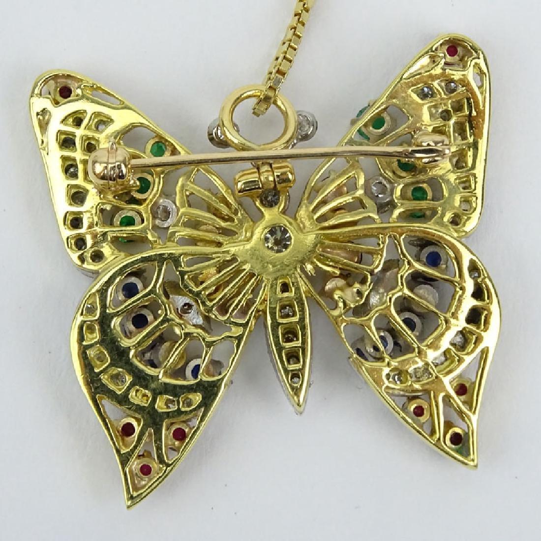 Vintage Diamond, Multi Gemstone and 18 Karat Yellow - 2