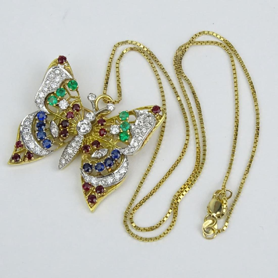 Vintage Diamond, Multi Gemstone and 18 Karat Yellow - 3
