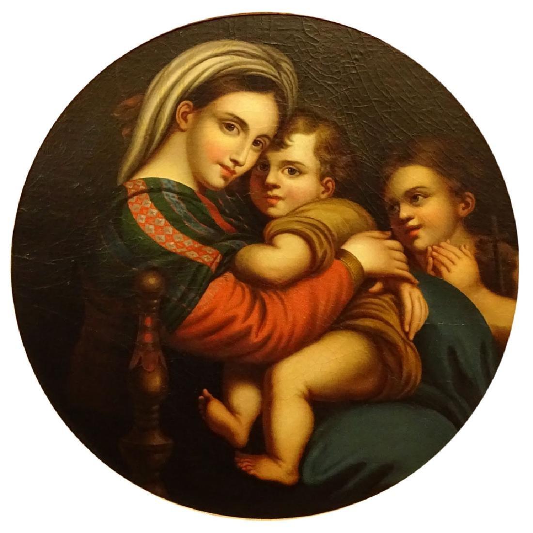 After: Raphael, Italian (1483-1520) Oil on canvas laid