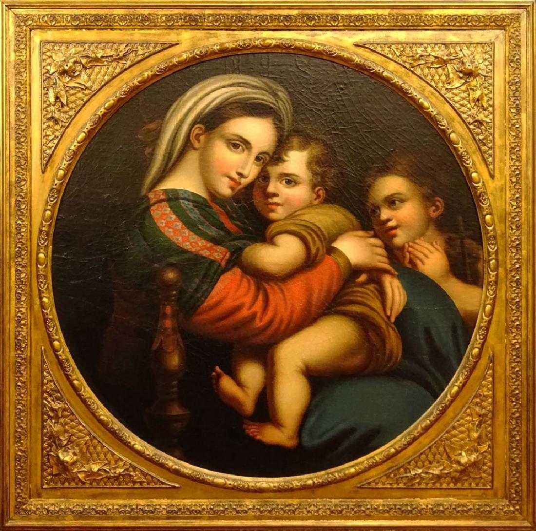 After: Raphael, Italian (1483-1520) Oil on canvas laid - 2