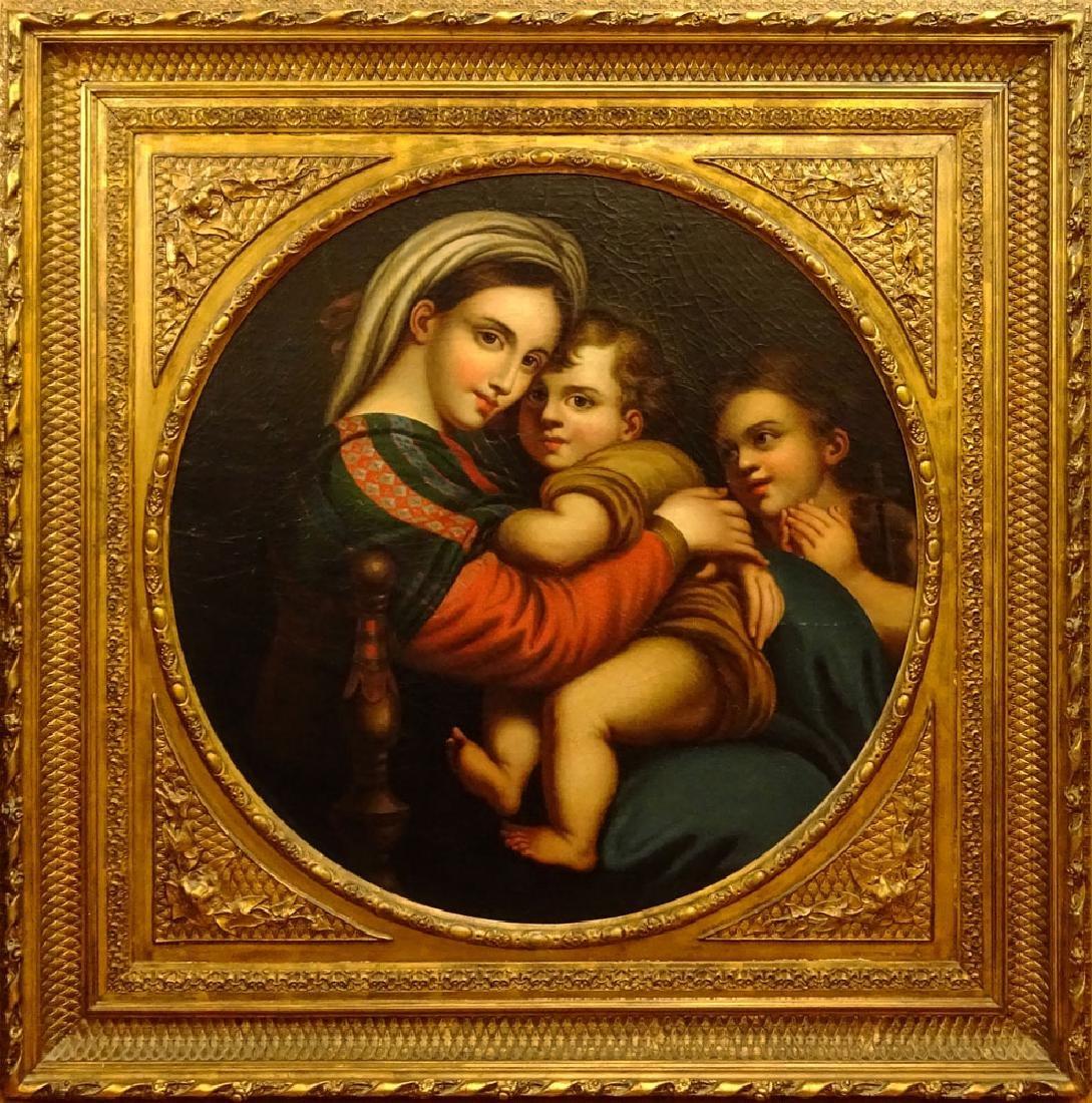 After: Raphael, Italian (1483-1520) Oil on canvas laid - 3