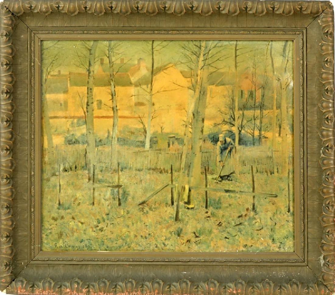 "Robert Vonnoh, American (1858 - 1933) ""French Peasants - 2"