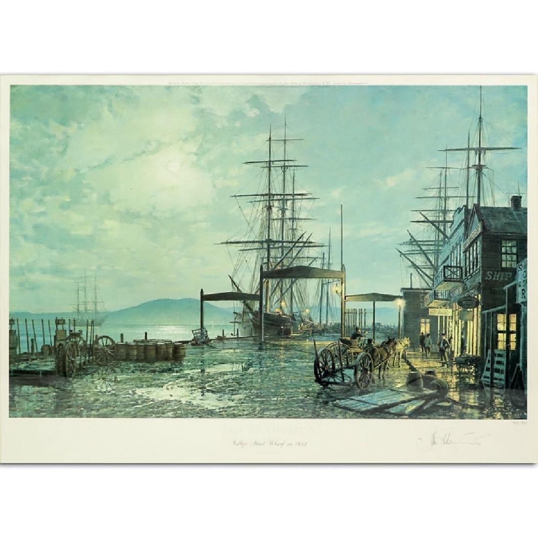 "John Stobart, American (b. 1929) Color Lithograph ""San"