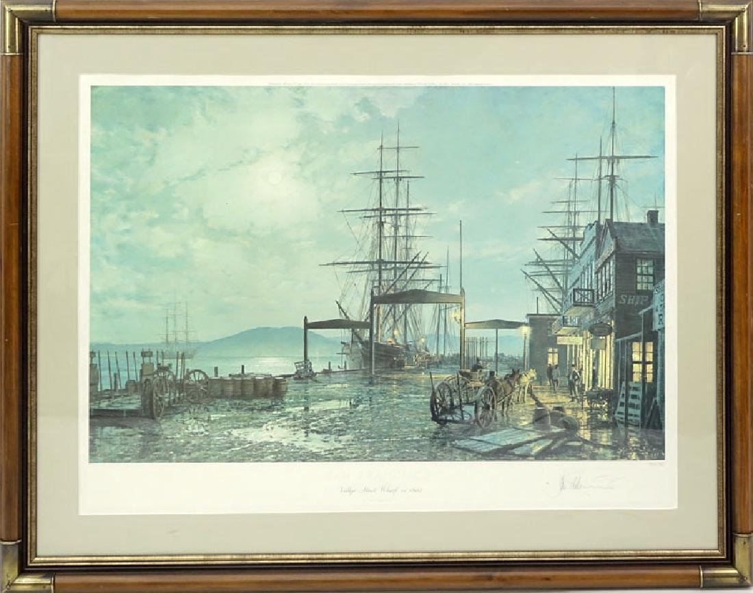"John Stobart, American (b. 1929) Color Lithograph ""San - 2"