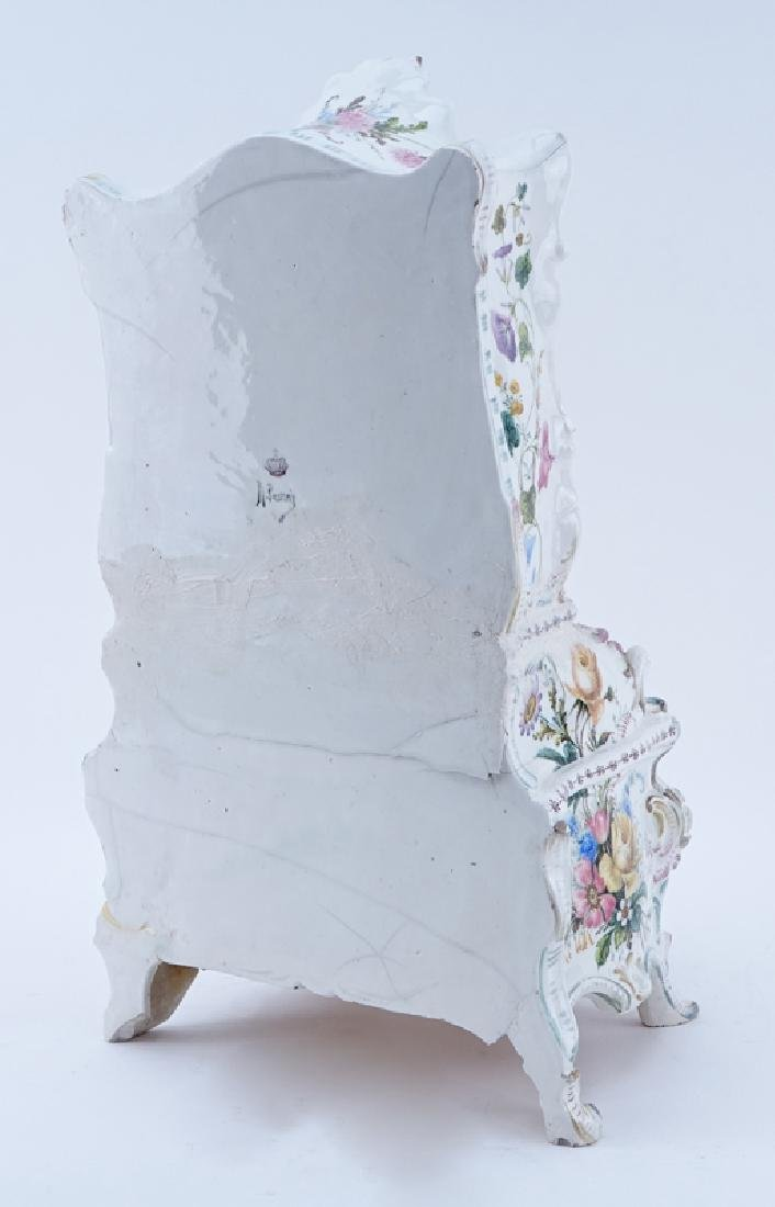 18/19th Century Italian Faience Tabletop Armoire. - 3