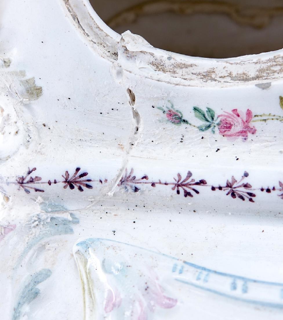 18/19th Century Italian Faience Tabletop Armoire. - 5