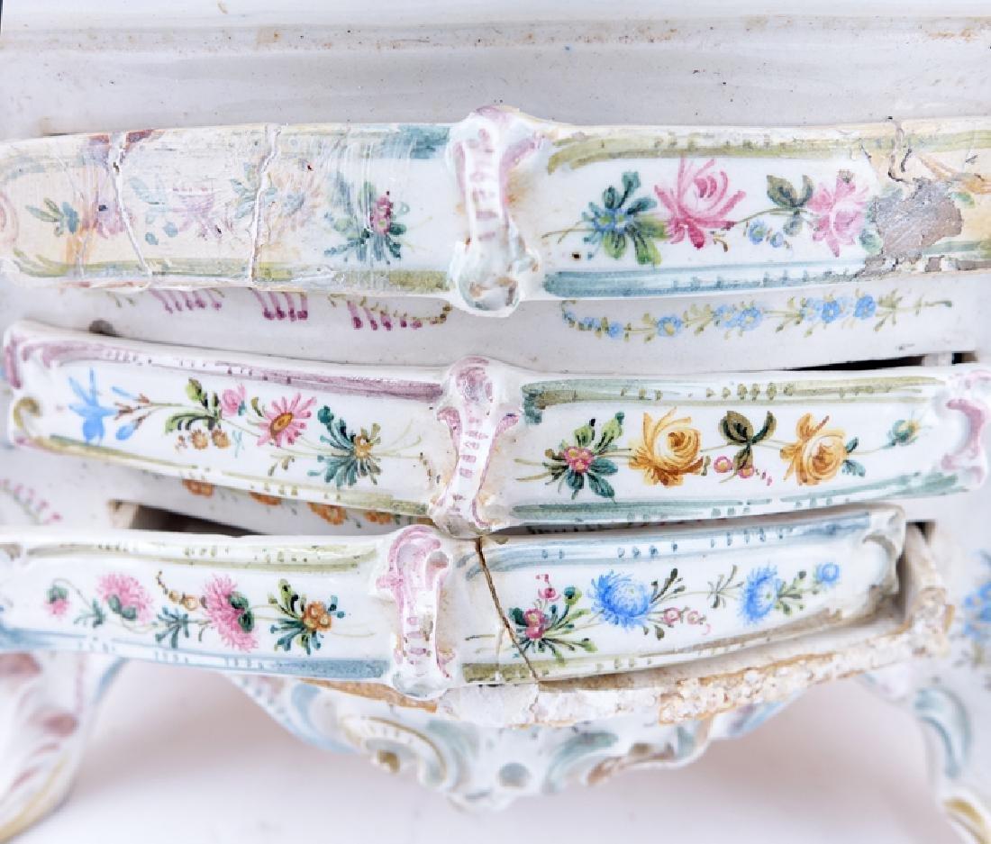 18/19th Century Italian Faience Tabletop Armoire. - 6