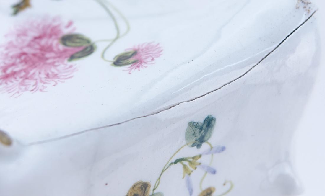 18/19th Century Italian Faience Tabletop Armoire. - 7