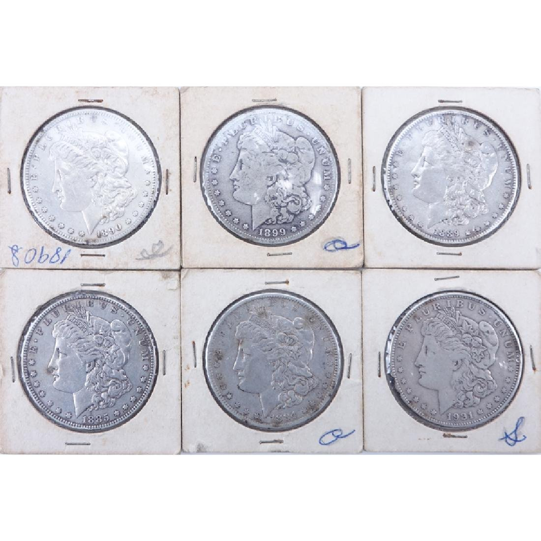 Collection of Six (6) Morgan Silver Dollars. Dates