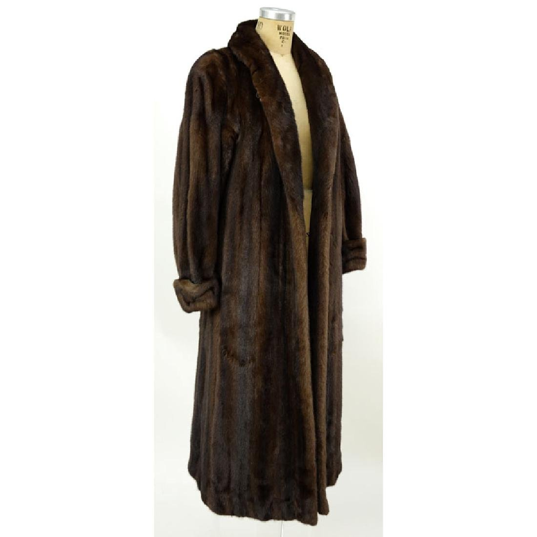 A Birger Christensen Full Length Ranch Mink Coat. Saks
