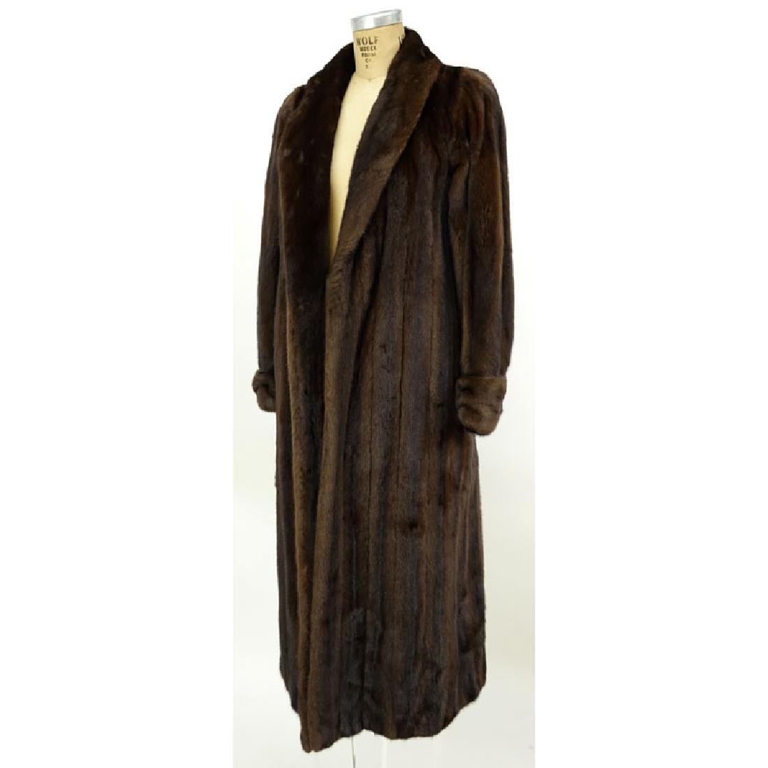 A Birger Christensen Full Length Ranch Mink Coat. Saks - 2