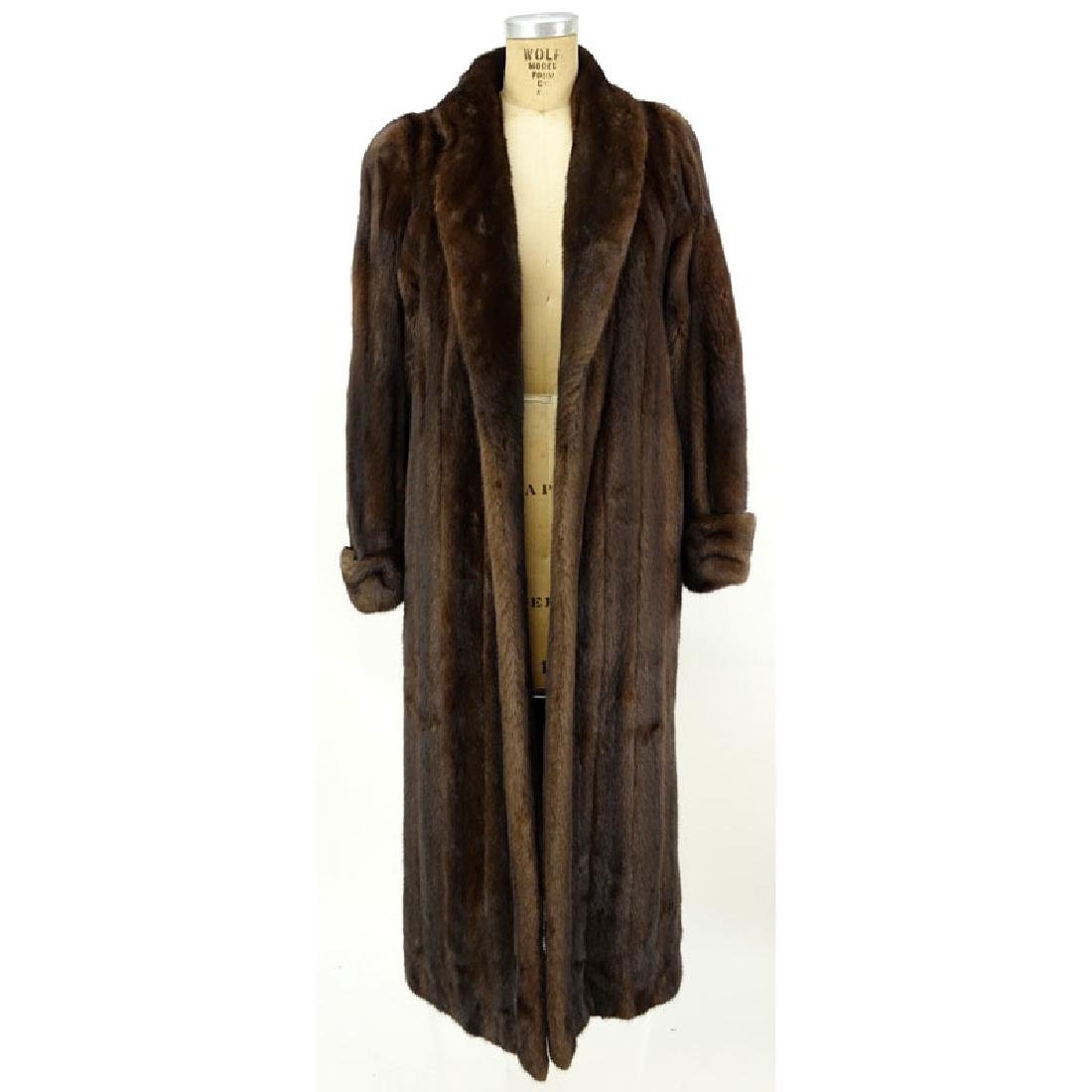 A Birger Christensen Full Length Ranch Mink Coat. Saks - 3
