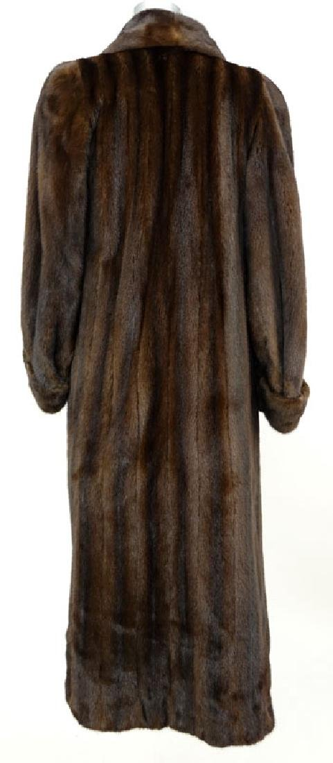 A Birger Christensen Full Length Ranch Mink Coat. Saks - 4