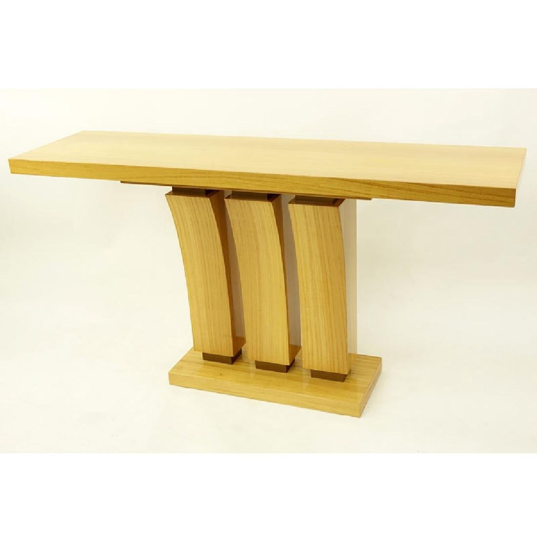 Modern Art Deco Style Satinwood Console Table. Minor