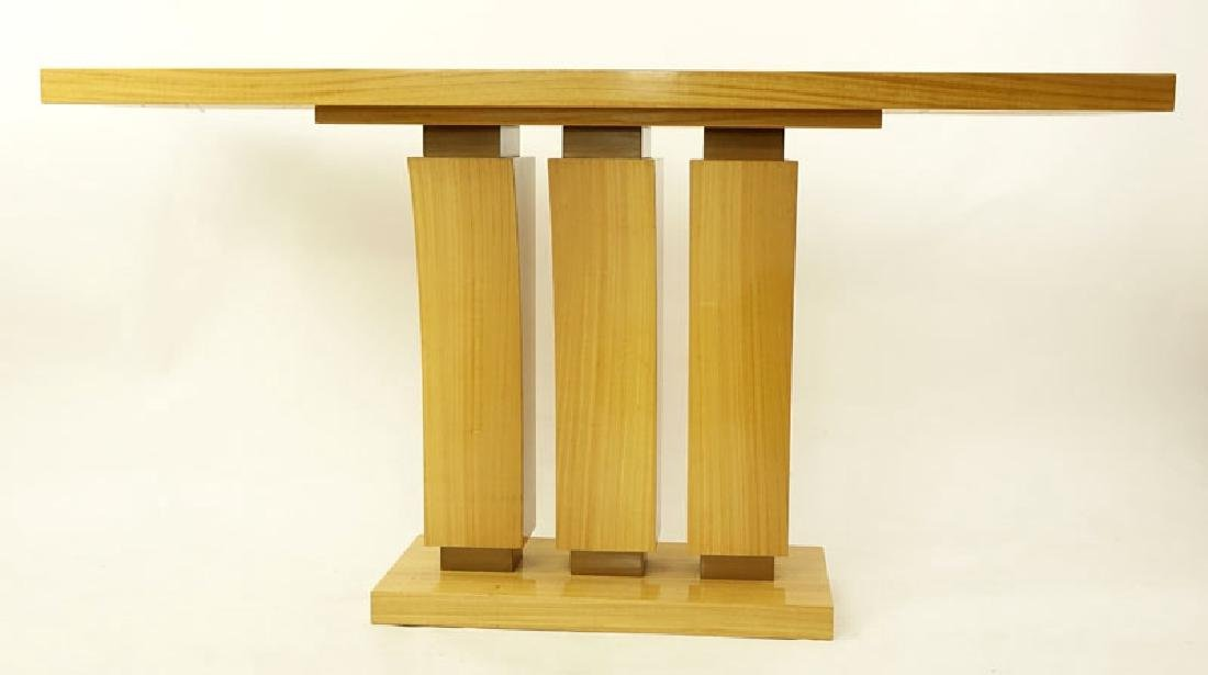 Modern Art Deco Style Satinwood Console Table. Minor - 2