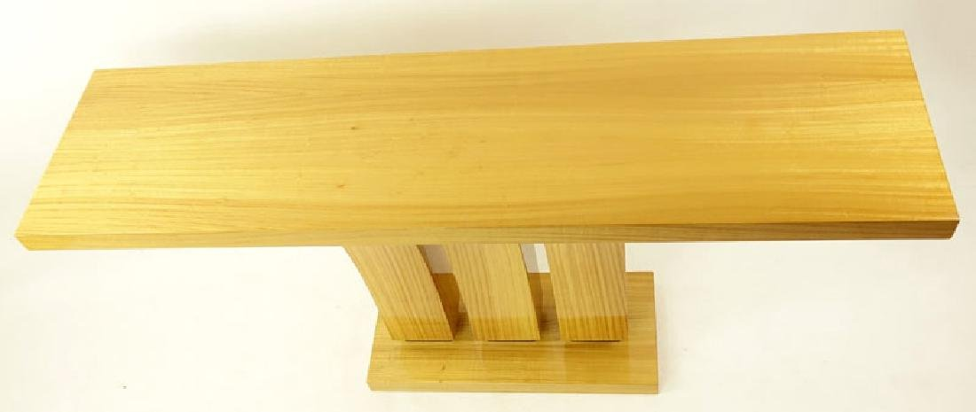 Modern Art Deco Style Satinwood Console Table. Minor - 3