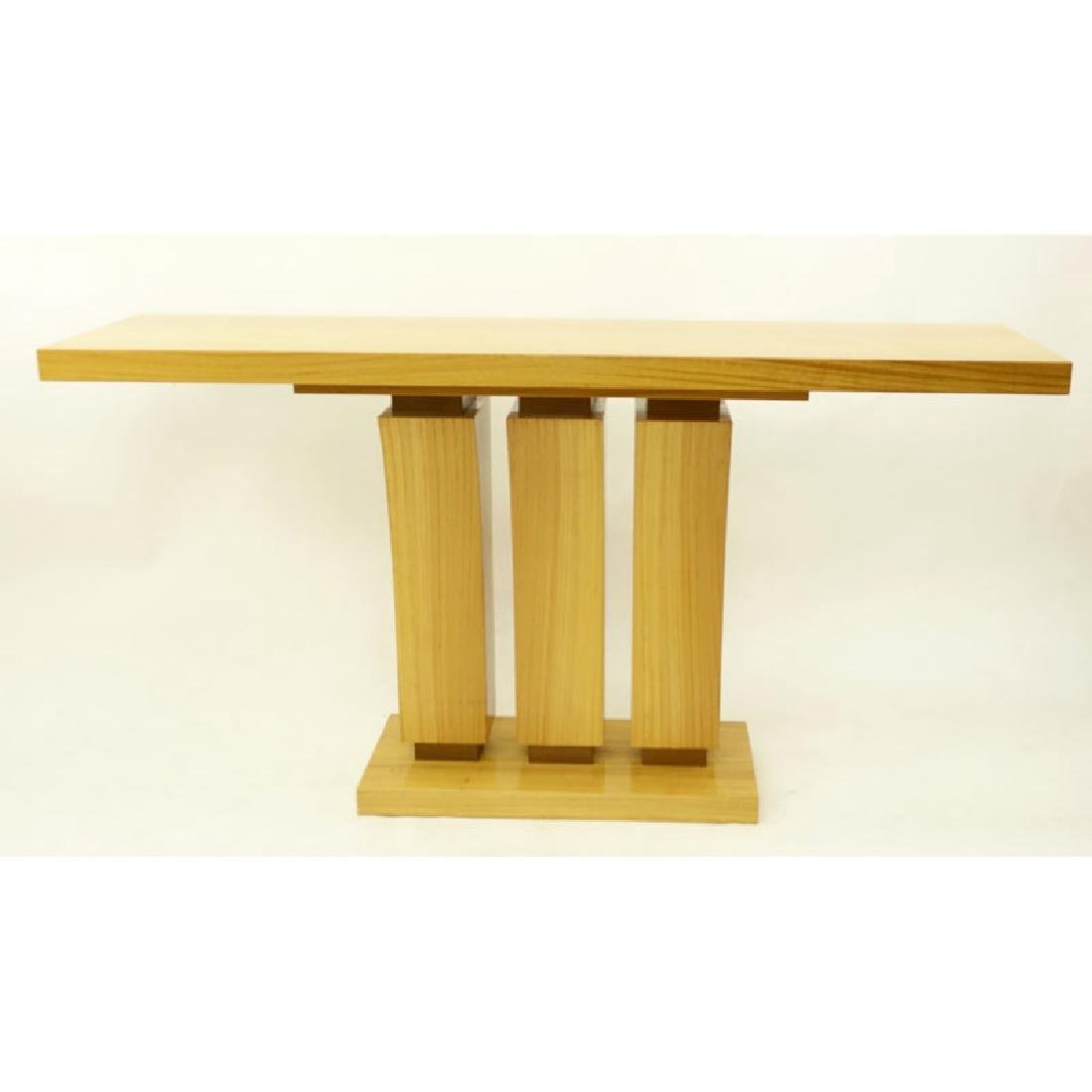 Modern Art Deco Style Satinwood Console Table. Minor - 4