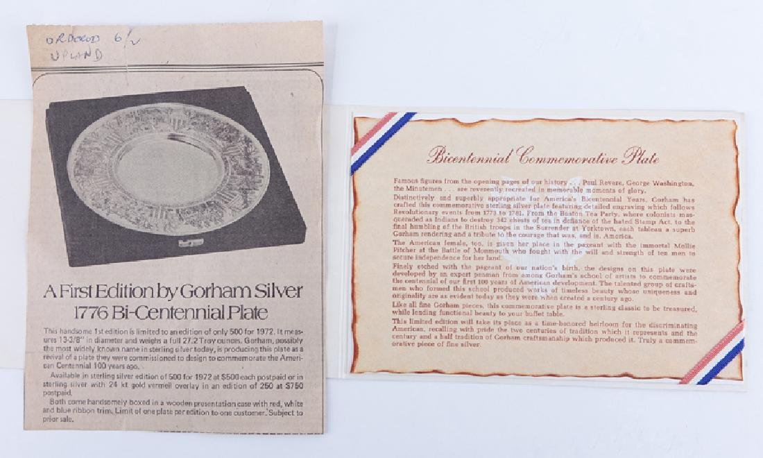 Gorham Sterling Silver 1972 Bicentennial Commemorative - 7