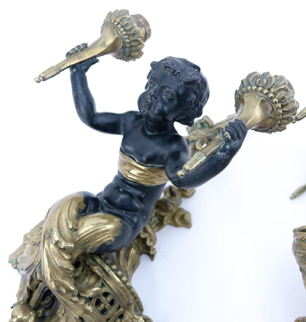 Pair of 19/20th Century Louis XVI Style Gilt Bronze - 3