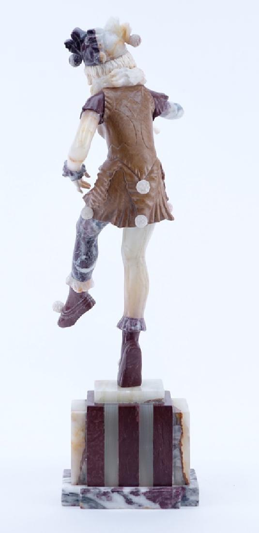 Antique Art Deco Marble, Onyx Harlequin Sculpture. - 3