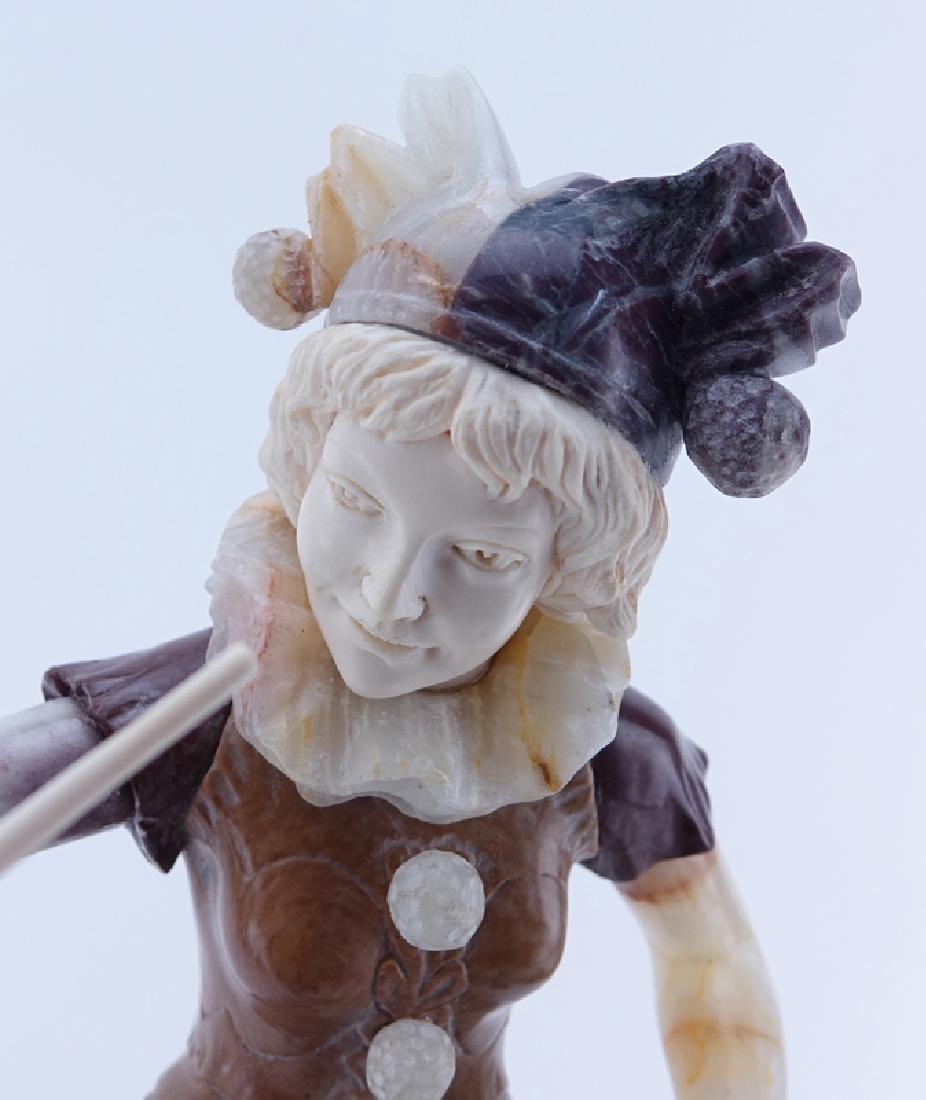 Antique Art Deco Marble, Onyx Harlequin Sculpture. - 4