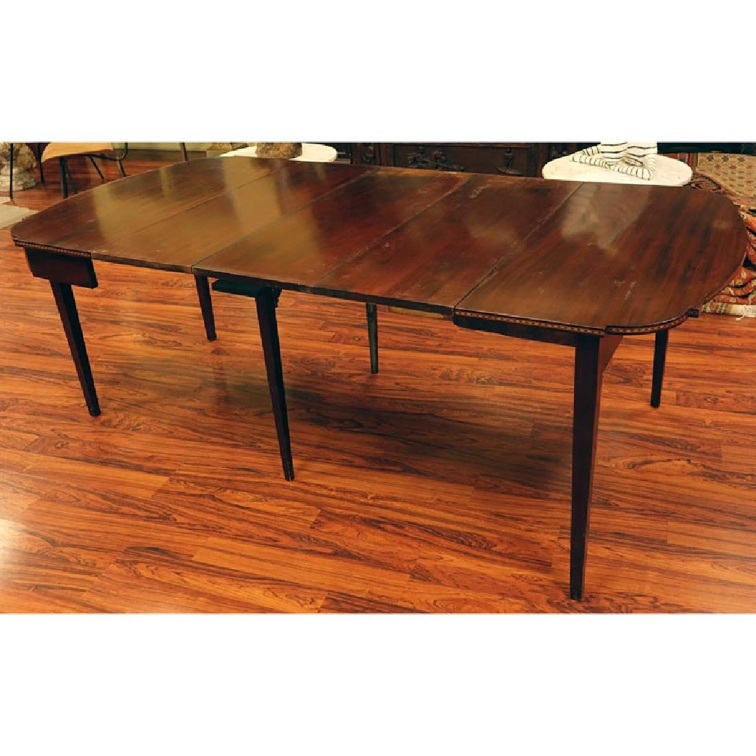20th Century Sheraton Style Inlaid Console/Expanding - 2