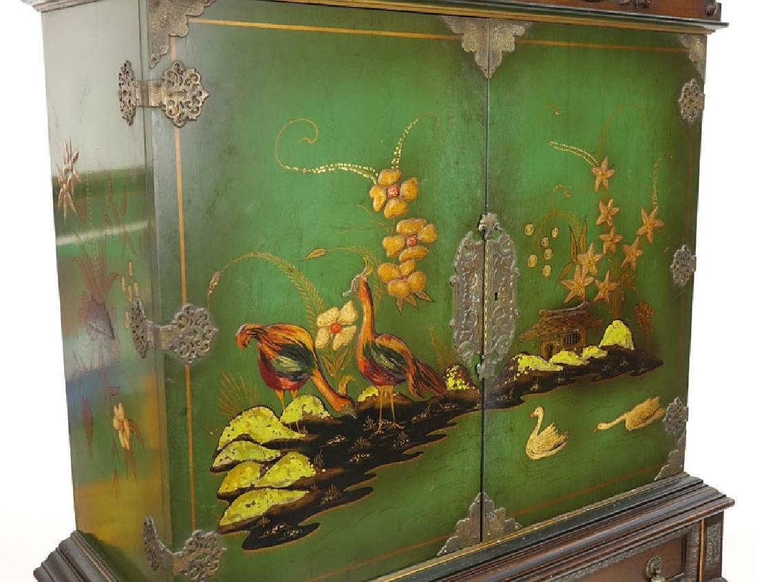 Early 20th Century Queen Anne Style Lacquered Chest On - 2