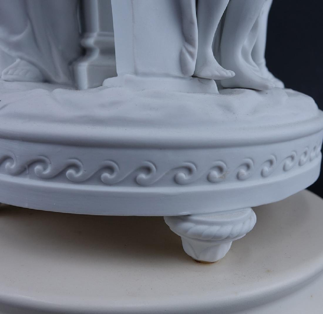 20th Century Sevres Style Bisque Figural Lamp. - 4
