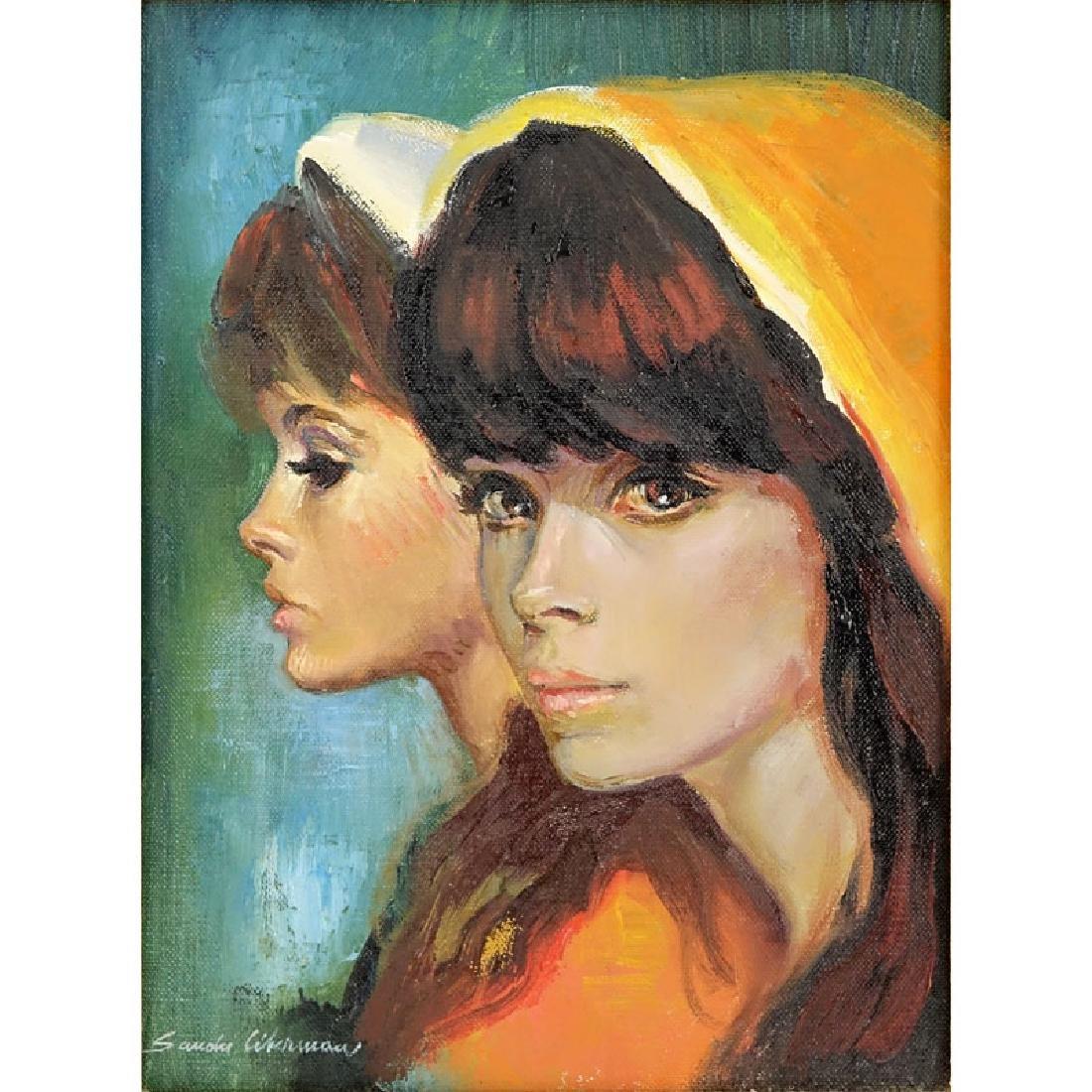Sandu Liberman, Romanian (1923 - 1977) Oil on Canvas