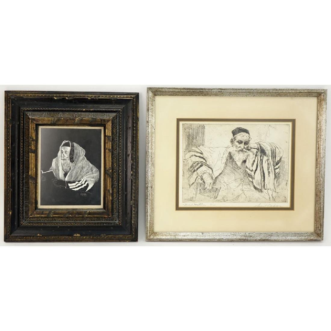 Two (2) Judaica Etchings Includes: Samuel George Cahan