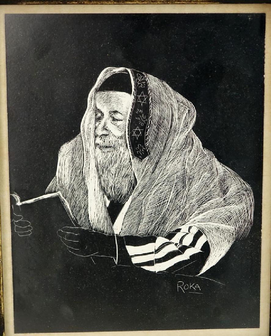 Two (2) Judaica Etchings Includes: Samuel George Cahan - 2