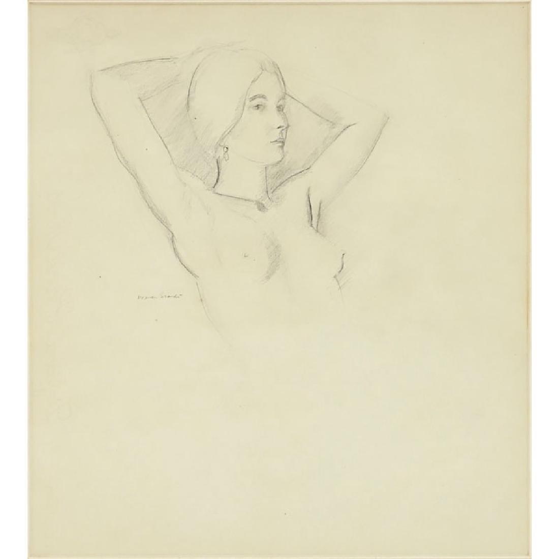 Warren Brandt, American (1918 - 2002) Drawing on paper