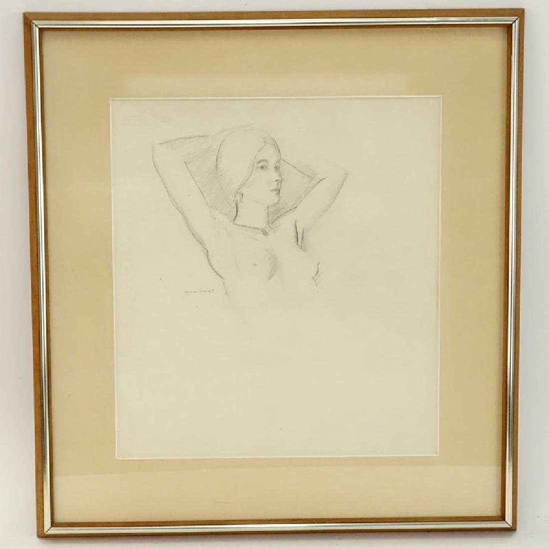 Warren Brandt, American (1918 - 2002) Drawing on paper - 2