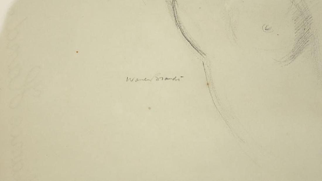 Warren Brandt, American (1918 - 2002) Drawing on paper - 3