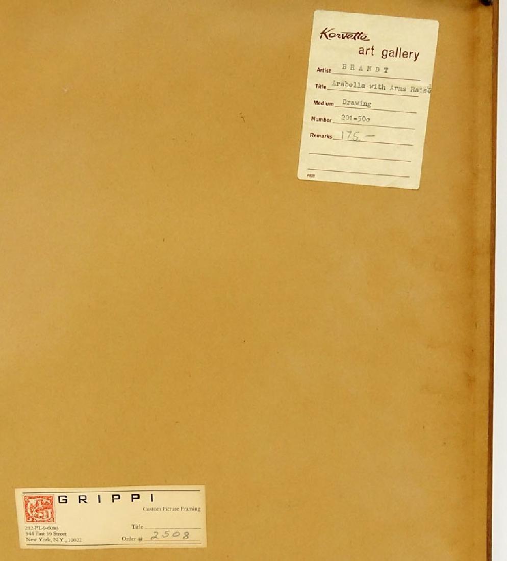 Warren Brandt, American (1918 - 2002) Drawing on paper - 7