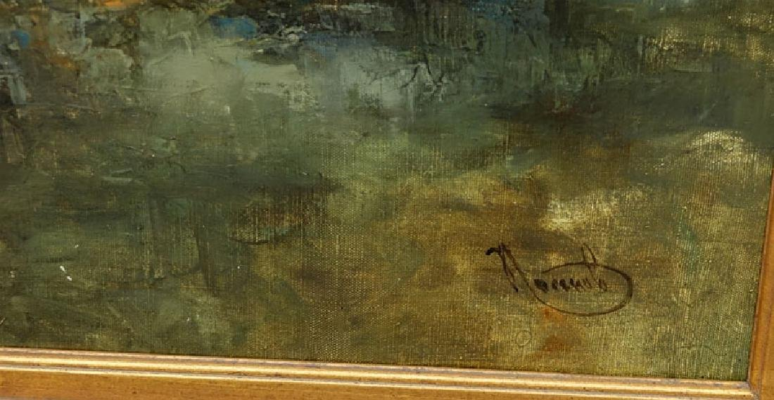 """20th Century Oil on Canvas """"Raging Sea's"""" Signed Lower - 3"""