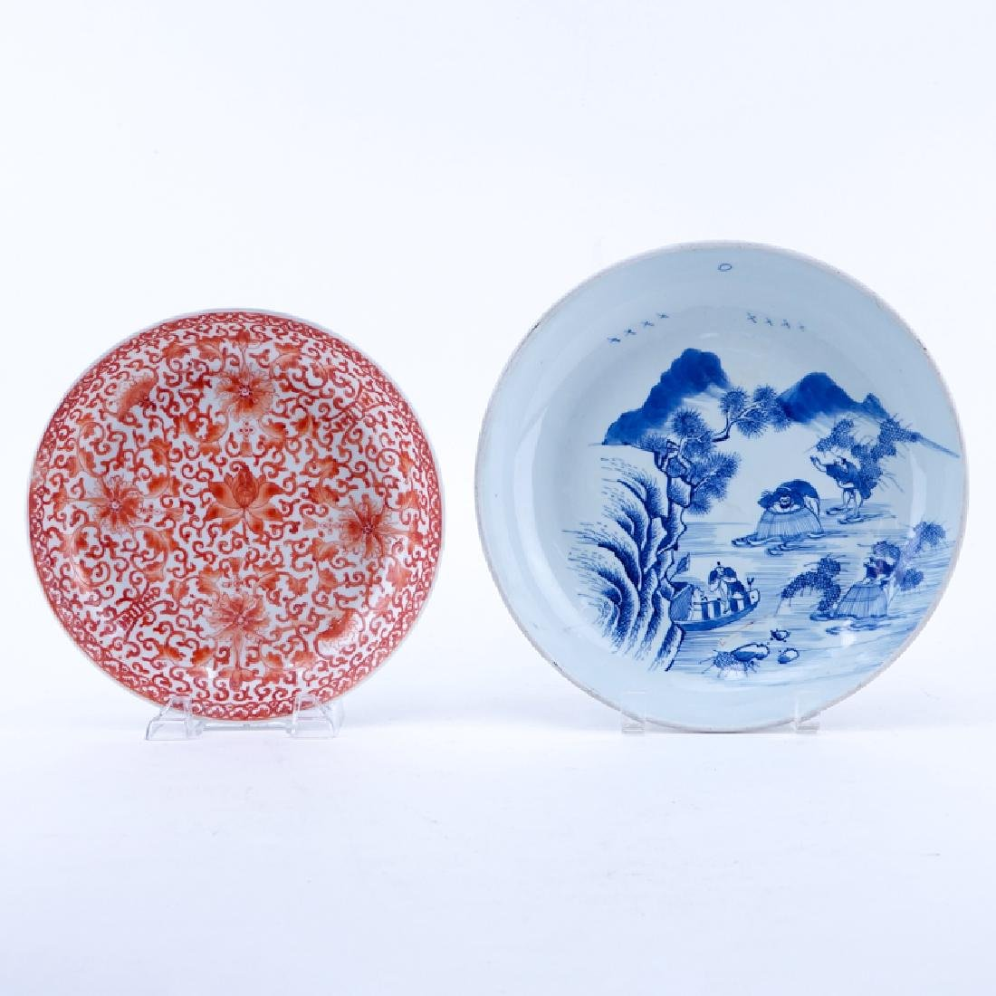 Two (2) Antique Chinese Porcelain Plates. One is