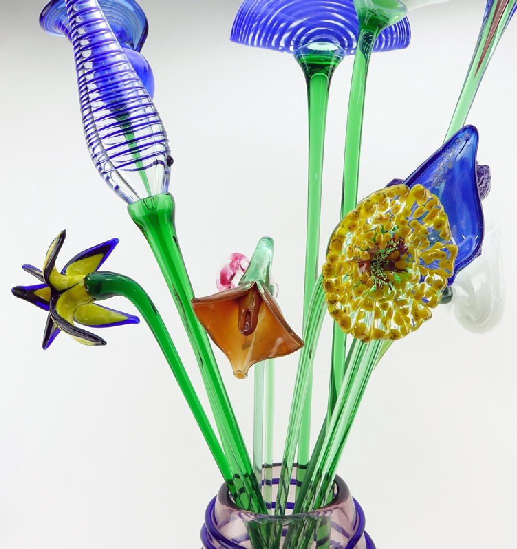 Mid Century Beranek Art Glass Bouquet of Flowers in - 2