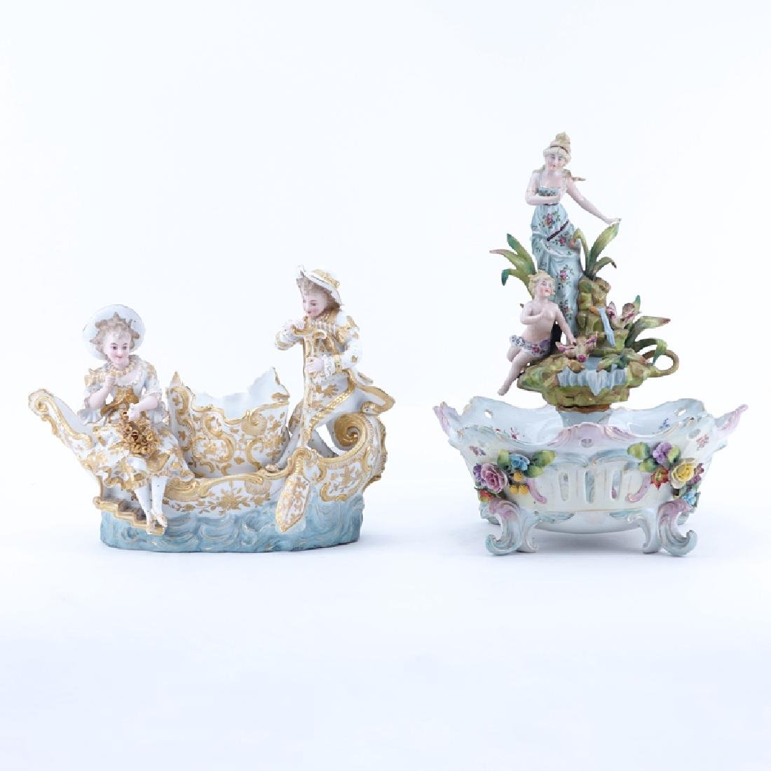 Two (2) German Vintage Decorative Porcelain Groups.