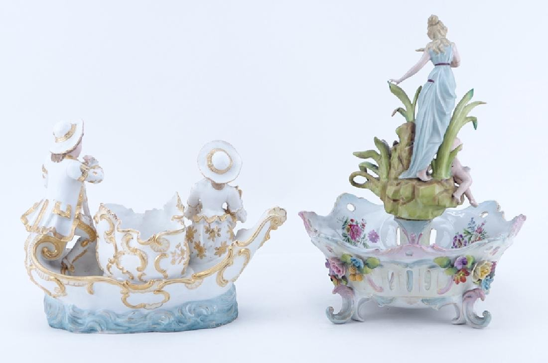Two (2) German Vintage Decorative Porcelain Groups. - 2
