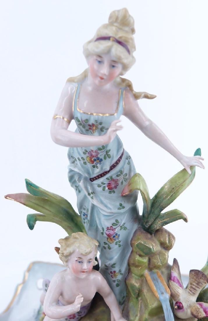 Two (2) German Vintage Decorative Porcelain Groups. - 3