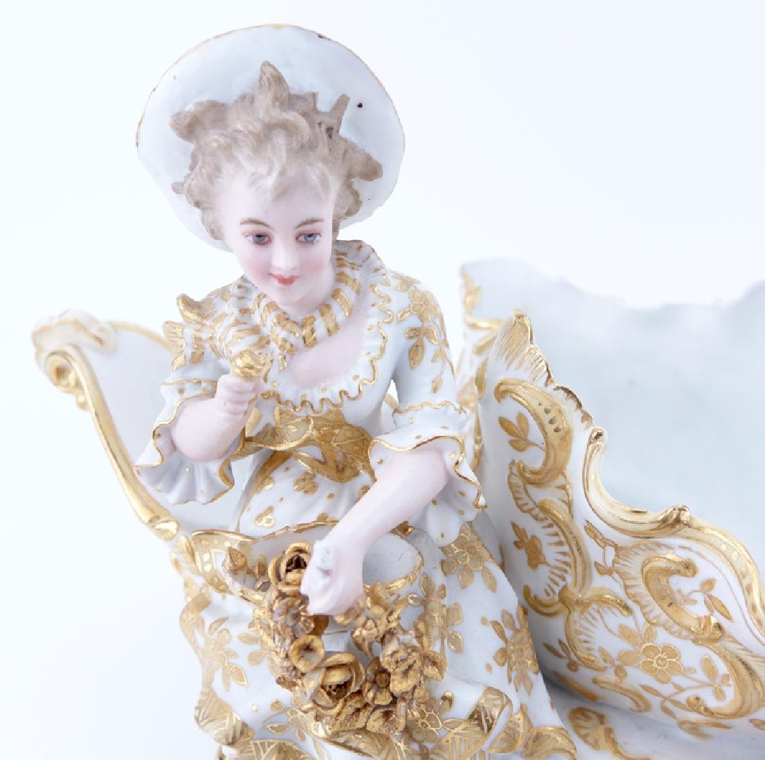 Two (2) German Vintage Decorative Porcelain Groups. - 4